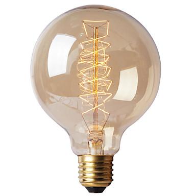 BriLight 1pç 40W E27 E26/E27 G95 K Incandescente Vintage Edison Light Bulb AC 220-240V V