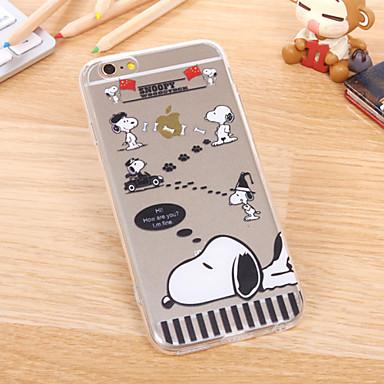 Για Θήκη iPhone 6 Εξαιρετικά λεπτή / Διαφανής / Με σχέδια tok Πίσω Κάλυμμα tok Κινούμενα σχέδια Μαλακή TPU iPhone 6s/6