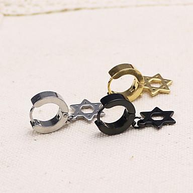 Σκουλαρίκι Κρεμαστά Σκουλαρίκια Κοσμήματα 1pc Καθημερινά / Causal / Αθλητικά Τιτάνιο Ατσάλι Γυναικεία / Άντρες Χρυσαφί / Μαύρο / Ασημί