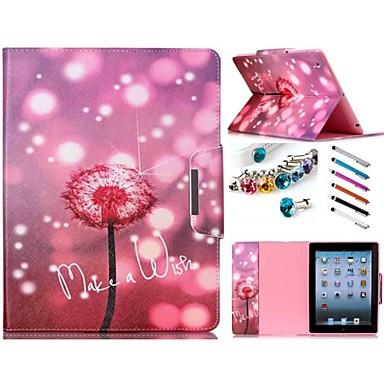Capinha Para iPad Air Com Suporte Estampada Capa Proteção Completa Flor PU Leather para iPad Air