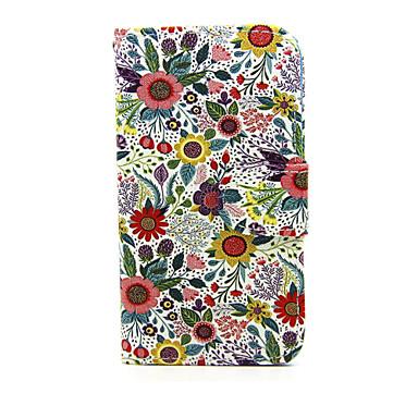 Για Θήκη Nokia Πορτοφόλι / Θήκη καρτών / με βάση στήριξης tok Πλήρης κάλυψη tok Λουλούδι Σκληρή Συνθετικό δέρμα Nokia Nokia Lumia 635