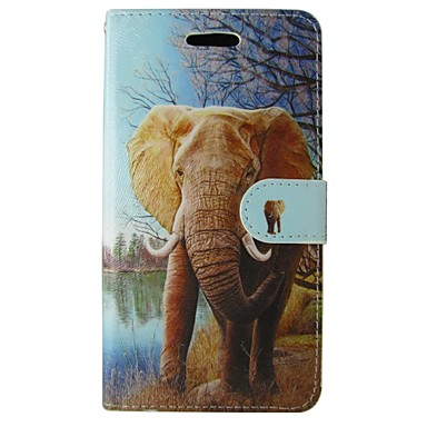 Capinha Para Samsung Galaxy Samsung Galaxy Note Porta-Cartão Carteira Com Suporte Flip Capa Proteção Completa Elefante PU Leather para