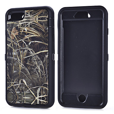 PC + TPU bolsas impermeáveis camuflagem filial caso à prova de choque build-in protetor de tela para iphone 6 mais iphone / 6s mais