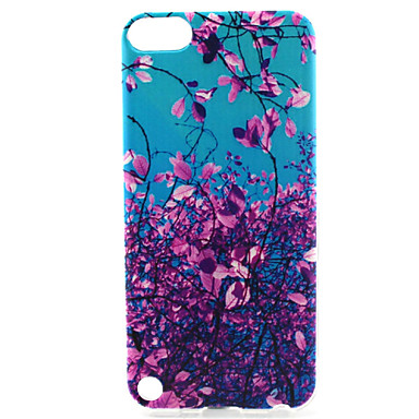 flower tree painting pattern tpu soft voor ipod touch 5 ipod cases / covers