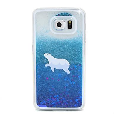 Για Samsung Galaxy Θήκη Ρέον υγρό tok Πίσω Κάλυμμα tok Κινούμενα σχέδια PC Samsung S6 edge / S6