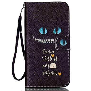 caixa de couro do telefone do plutônio do sorriso para iphone 6 / 6s iphone cases