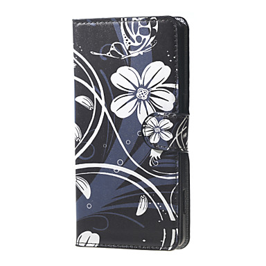 Para Capinha LG Case Tampa Porta-Cartão Carteira Com Suporte Flip Corpo Inteiro Capinha Flor Rígida Couro Ecológico para LG LG Nexus 5X