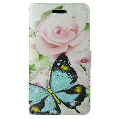 غطاء من أجل هواوي P8 Huawei هواوي P8 لايت Huawei P6 حامل البطاقات محفظة مع حامل قلب غطاء كامل للجسم ماندالا نمط زهور قاسي جلد PU إلى P10