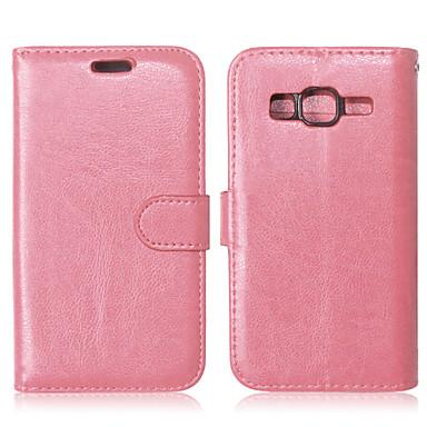 hoesje Voor Samsung Galaxy Samsung Galaxy hoesje Kaarthouder Portemonnee met standaard Flip Volledig hoesje Effen Kleur PU-nahka voor