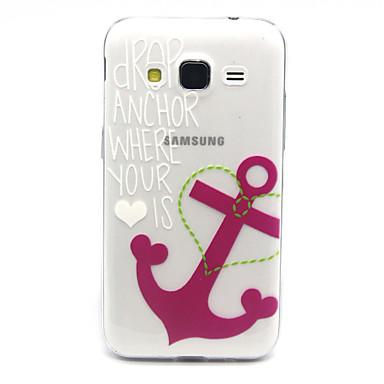 Voor Samsung Galaxy hoesje Hoesje cover Transparant Achterkantje hoesje Anker TPU voor Samsung Galaxy Core