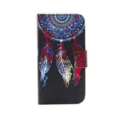 klapperen Monternet portal patroon pu lederen full body case met kaartslot en staan voor iphone 5c