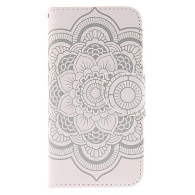 Para Samsung Galaxy Capinhas Carteira / Porta-Cartão / Com Suporte / Flip Capinha Corpo Inteiro Capinha Flor Couro PU Samsung S6 edge