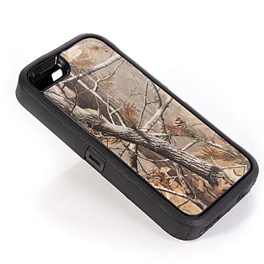 ramo camuflagem caso à prova de choque w / build-in protetor de tela para iphone 5 / 5s plástico + TPU com tampa