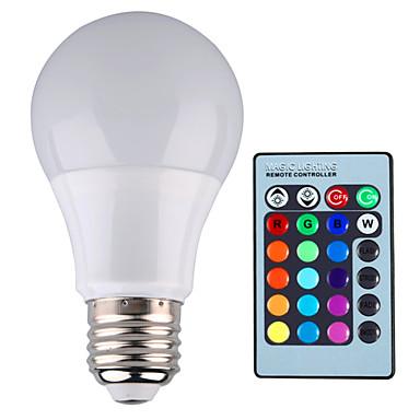 YWXLIGHT® 500 lm E26/E27 LED-bollampen A60 (A19) 1 leds Krachtige LED Dimbaar Decoratief Op afstand bedienbaar RGB AC 85-265V