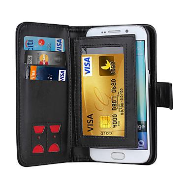 magnetische 2 in 1 luxe lederen portemonnee case flip cover + contant slot + fotolijst telefoon geval voor Samsung Galaxy S5 / s6 / s6
