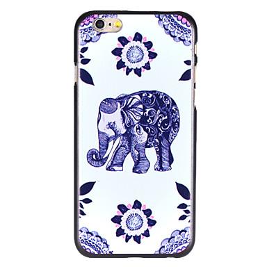 flor roxa elefante padrão pc Capa para iPhone 6