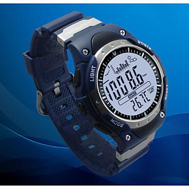 Masculino Relógio de Pulso DigitalLCD Altimetro Compass Termômetro Calendário Cronógrafo Impermeável Dois Fusos Horários Relógio
