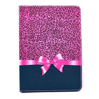 Capinha Para Com Suporte Corpo Inteiro Estampa de Leopardo Couro Ecológico para iPad Mini 4