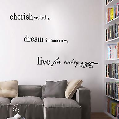 muurstickers muur stickers stijl koesteren het verleden engels woorden&citeert pvc muurstickers