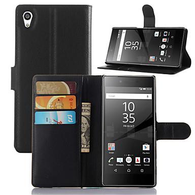 mode lederen vuilafstotend flip portemonnee beschermhoes voor Sony Xperia Z5 Capa telefoon geval