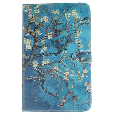 Para Samsung Galaxy Capinhas Porta-Cartão / Carteira / Com Suporte / Flip / Estampada Capinha Corpo Inteiro Capinha Flor Couro PU Samsung