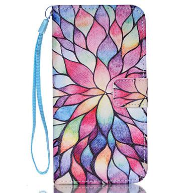 Voor Samsung Galaxy hoesje Kaarthouder / Portemonnee / met standaard / Flip hoesje Volledige behuizing hoesje Bloem PU-leer SamsungS6