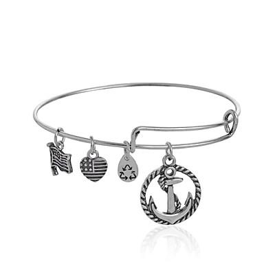 Bangles 1 stuks,Zilver Armbanden Legering Sieraden Dames / Heren / Echtpaar