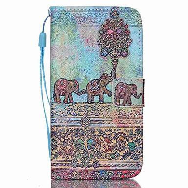 Para Samsung Galaxy Capinhas Carteira / Porta-Cartão / Com Suporte / Flip Capinha Corpo Inteiro Capinha Elefante Couro PU SamsungS6 edge