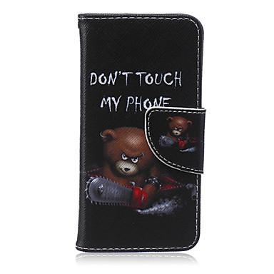 não toque meu padrão de telefone de couro pu capa de corpo inteiro com suporte para iphone5c