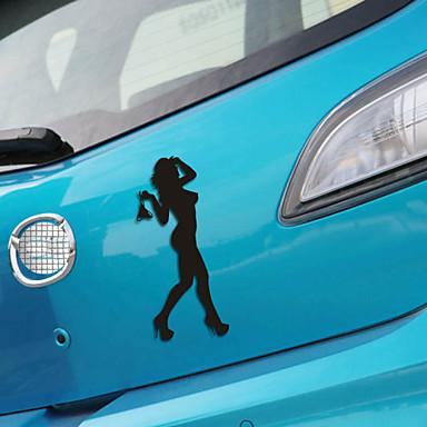 αστείο κυρία ομορφιά αυτοκίνητο αυτοκίνητο αυτοκόλλητο παράθυρο τοίχων decal αυτοκίνητο στυλ