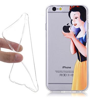 nieuwe sprookje Sneeuwwitje 3D patroon TPU terug te dekken voor de iPhone 6 / 6s
