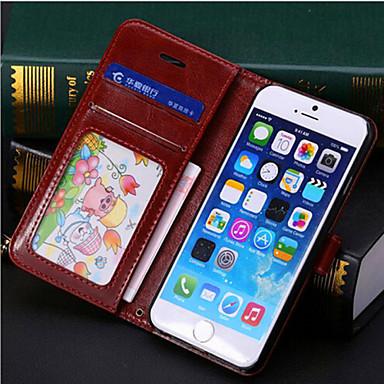 pu pacote de couro shell / suporte / clamshell telefone celular capa protetora para iphone6 além de telefone móvel