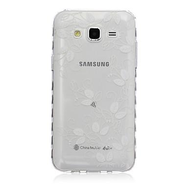 Para Samsung Galaxy Capinhas Transparente / Estampada Capinha Capa Traseira Capinha Pena TPU SamsungJ7 / J5 / J3 / J2 / J1 Ace / J1 /
