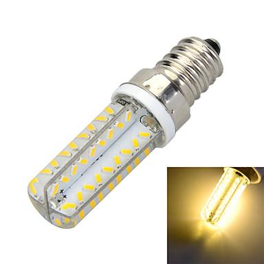 e14 led corn lichten b 72 smd 3014 400-500lm warm wit koud wit 3000 / 6500k decoratieve ac 220-240v