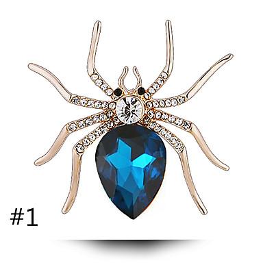 é o botão de cristal personalidade aranha fêmea animal de alta qualidade broche de pérolas xale