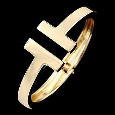 Heren Dames Cuff armbanden Verzilverd Verguld Legering Sieraden Kerstcadeaus Dagelijks Causaal Sport