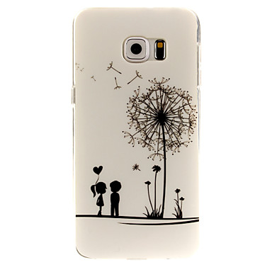 Capinha Para Samsung Galaxy Samsung Galaxy Capinhas Estampada Capa traseira dandelion TPU para S6 edge plus S6 edge S6