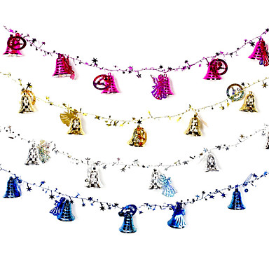 2 m hosszú karácsonyi dekoráció ajándék gyűrű cukornád harangok lógnak jár szerepét ofing karácsonyfadísz karácsonyi ajándék