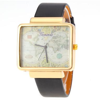 Masculino Relógio de Pulso Quartzo PU Banda Preta Branco Vermelho Marrom Branco Marron Vermelho Dourado-Preto Prateado-Preto