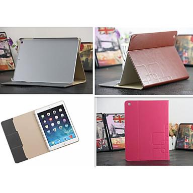 grade de luxo de couro cartão caso Carteira ficar Smart Cover livro casos protetores de ipad ar / ipad5 (cores sortidas)