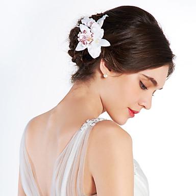 Mulheres Tecido Capacete-Casamento Ocasião Especial Ao ar Livre Flores