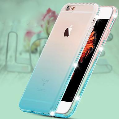 cor gelo luxo giamond caso de telefone TPU verde do inclinação para iphone 6plus / 6splus (cor opcional)