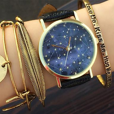 Mulheres Quartzo Relógio de Pulso Relógio Casual PU Banda Amuleto / Fashion Preta