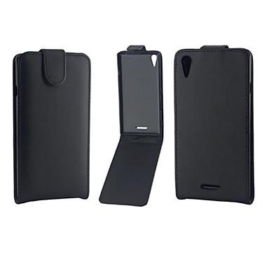voordelige Hoesjes / covers voor Sony-hoesje Voor Sony Z5 / Sony Xperia Z3 / Sony Xperia Z3 Compact Sony Xperia Z2 / Sony Xperia Z3 / Sony Xperia Z3 Compact Flip Volledig hoesje Effen Hard PU-nahka