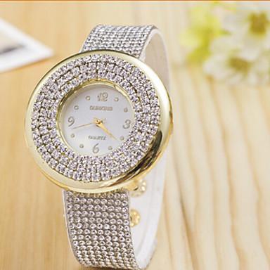 Dames Modieus horloge Pavé horloge Kwarts imitatie Diamond Zwitsers Designer Legering Band Zwart Wit Blauw Rood Bruin Groen Roze Paars