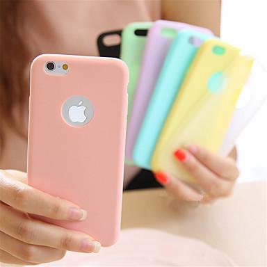 Недорогие Кейсы для iPhone-Кейс для Назначение iPhone 5 / Apple iPhone 8 Pluss / iPhone 8 / iPhone SE / 5s Ультратонкий Кейс на заднюю панель Однотонный Мягкий ТПУ