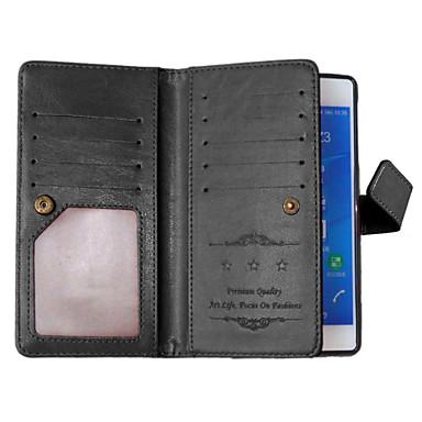 effen kleur kaart staan lederen tas voor Sony Xperia z3