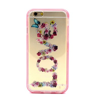 hoesje Voor iPhone 6 iPhone 6 Plus Transparant Achterkantje Woord / tekst Zacht TPU voor iPhone 6s Plus iPhone 6 Plus iPhone 6s Iphone 6