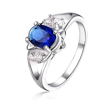Γυναικεία Κρυστάλλινο Δακτύλιος Δήλωσης - Επάργυρο 8 Για Γάμου / Πάρτι / Καθημερινά / Κρύσταλλο