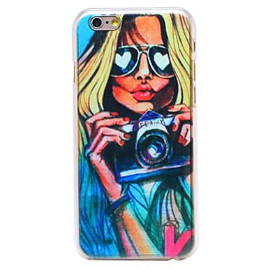sexy girl padrão de câmera pc transparente Capa para iPhone 6 mais